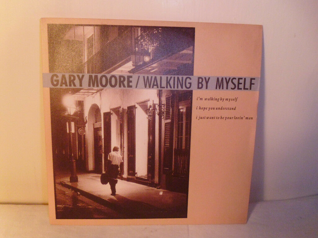 "GARY MOORE ""WALKING BY MYSELF"" VINYL 7"" SINGLE"