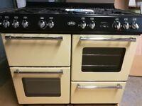 Belling 100DFT Dual Fuel Range Cooker- Cream & Chrome