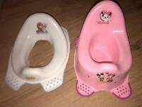 Toilet training set potty and toilet seat