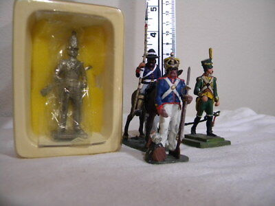 Alamo / Mexican War? pewter Mexican infantry and cavalry 4 pieces