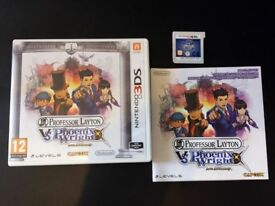 Professor Layton vs Phoenix Wright: Ace Attorney Nintendo 3DS + 2DS Game Fun Kids Childrens Like New