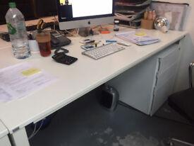 Sedus white desks x2 office furniture desks tables. used. good condition.BARGAIN. original RRP £250