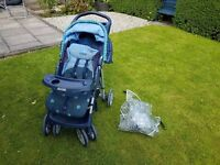 Graco Pushchair with Rain Cover and FOOTMUFF