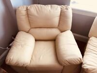 3 seater, 2 seater and reclining chair for sale