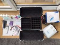 UV gel nail kit including lamp, CND Shellac polishes and products with Roo-beauty mobile carry case