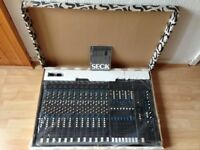 SECK 1282 VINTAGE 12-CHANNEL/8-BUS MIXING DESK - COMES WITH ORIGINAL POWER SUPPLY, MANUAL AND BOX