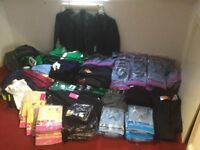 MASSIVE JOB LOT OF SCHOOL WEAR...INCLUDING SHIRTS,RUGBY TOPS,SHORTS,PLIMSOLES AND MUCH MORE
