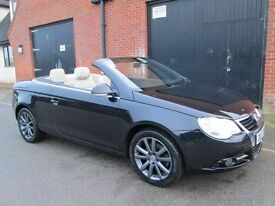 2007 (57) VOLKSWAGEN EOS DIESEL AUTOMATIC FULL LEATHER Part exchange available / All cards accepted