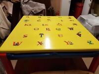 Upcycled childrens play / craft table