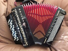 Brandoni Kingline Cassotto Chromatic C system Accordion, Top Spec , Midi, PRICE REDUCED