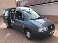 Factory mobility van wheel chair scooter etc ramp belts 5 seat Citroen dispatch 1.9 Diesel 82k