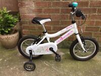Girls ridgeback bike with stabilisers