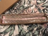 Diamonte pink ribboned belt
