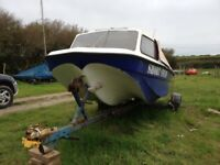 14ft CJR boat, engine and trailer