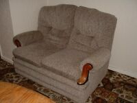 Small Sofa with wood trim