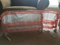 Double bed rail pink. Fully functioning