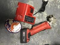 "Milwaukee cordless 41/2"" grinder 18v battery cutter ankle"