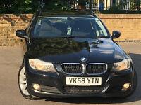 2008 BMW 3 Series 2.0 320d SE Touring 5DR FACELIFT MET BLACK & BLACK CLOTH SEATS 141K&FSH 4250 ONO