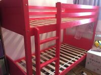 Hot Pink Bunk bed good condition