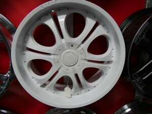 22 INCH RIMS NEW ALL WHITE DUAL DIT 6 BOLT - 6X135 + 6X139.7 GM & FORD