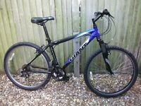 Giant adult mountain bike light weight aluminium front suspension 21speed quick fire good condition