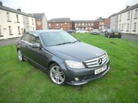 MERCEDS-BENZ C220 2.1 CDI SPORT 09 REG AUTOMATIC-TIPTRONIC FULL LEATHER FSH
