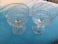 16 Trifle type stem glasses