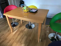Solid Wood Extendable Dining Table Only For Sale Good Condition No Chairs Just Table For Sale