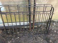 Pair of metal gates and posts