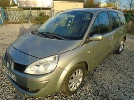 renault scenic, 7 seater, 1.6 petrol, metallic grey, 5 door