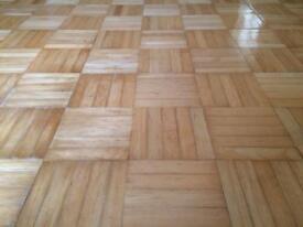 Real wood parquet flooring