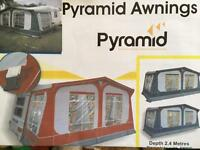 Pyramid Awning 925-950 excellent condition with draft skirt
