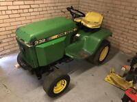 John Deere 332 garden tractor export