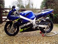 Suzuki GSXR600 K1, 2002, Low Mileage, Winter Bargain, Delivery Available
