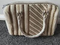 pearl/stones handmade wedding/party handbag,was £400