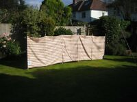 Two Towsure Windbreaks, six pole measuring 4.25x1.25 Metres each.
