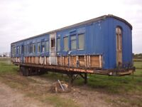 Railway carriage homes at Elmer Info or photos wanted