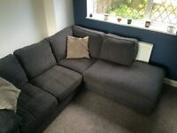 Corner Sofa - Fabric Graphite Dark Grey - Left Hand