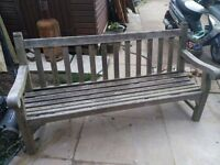 Teak bench nice & solid