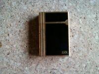 ST Dupont Black and Gold Ligne Lighter