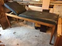 Antique examination couch