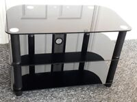 Black high gloss 3 tier TV stand