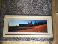 2 x pictures one framed one canvas