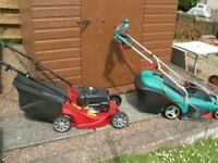 Petrol and Electric lawnmowers for sale in Scottish Borders.