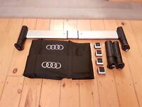 Audi Q5 roof bars, load area fixing kit & ski bag, boot liner, boot area separator/dog guard