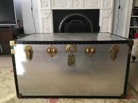 Large vintage steamer trunk
