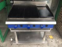 BBQ CHAR GRILL +FLAT PLATE CATERING COMMERCIAL BBQ KEBAB RESTAURANT KITCHEN TAKE AWAY SHOP CHICKEN