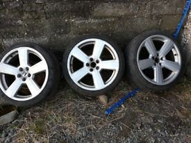 "3 x 18"" RS6 wheels to suit Volkswaggon, Audi, Seat etc."