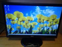 20 inch AOC VGA monitor with DVI converter