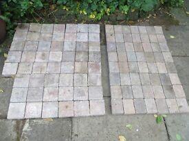 Tegula block paving 2.4m total 2 sizes 160x160mm & 160 x 120mm